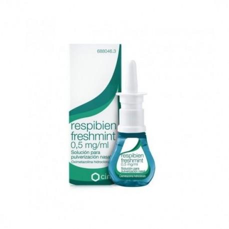 RESPIBIEN FRESHMINT 0,5 mg/ml SOLUCION PARA PULVERIZACION NASAL 1 FRASCO 15 ml