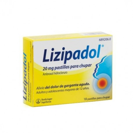 LIZIPAINA AMBROXOL 20 MG 18 PASTILLAS PARA CHUPAR