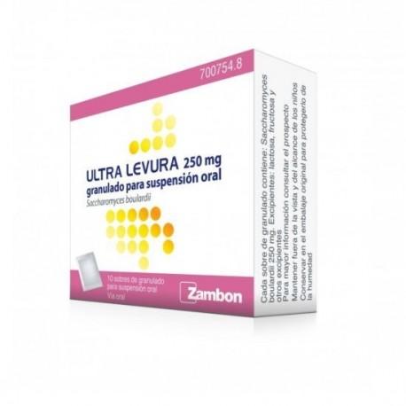 ULTRA-LEVURA 250 mg 10 SOBRES GRANULADO PARA SUSPENSION ORAL