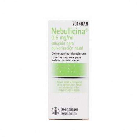 NEBULICINA 0,5 mg/ml SOLUCION PARA PULVERIZACION NASAL 1 FRASCO 10 ml