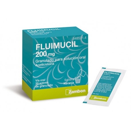FLUIMUCIL 200 mg 30 SOBRES GRANULADO PARA SOLUCION ORAL