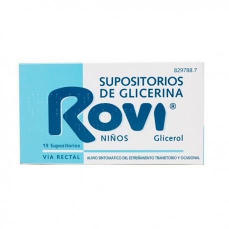 SUPOSITORIOS DE GLICERINA ROVI NIÑOS 1,44 G 15 SUPOSITORIOS