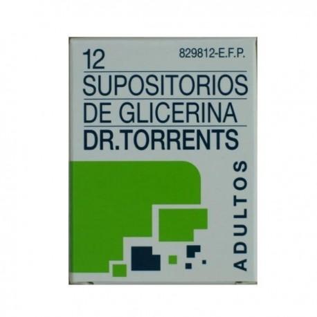 SUPOSITORIOS DE GLICERINA DR. TORRENTS ADULTOS 3,27 g 12 SUPOSITORIOS