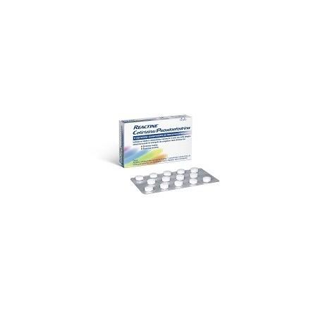 REACTINE CETIRIZINA/PSEUDOEFEDRINA 5 mg/120 mg 14 COMPRIMIDOS LIBERACION PROLONGADA