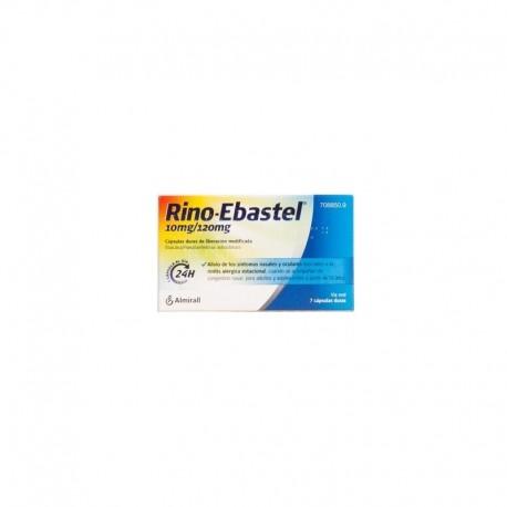 RINO-EBASTEL 10 mg/120 mg 7 CAPSULAS LIBERACION MODIFICADA