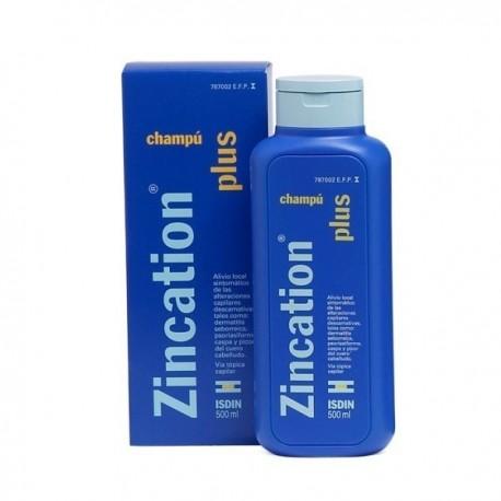 ZINCATION PLUS 10 mg/ml + 4 mg/ml CHAMPU MEDICINAL 1 FRASCO 500 ml