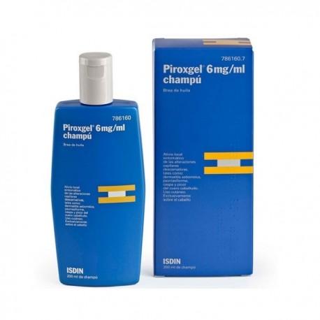 PIROXGEL 6 mg/ml CHAMPU MEDICINAL 1 FRASCO 200 ml