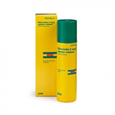 HIDROCISDIN 5 mg/g ESPUMA CUTANEA 1 ENVASE A PRESION 50 g