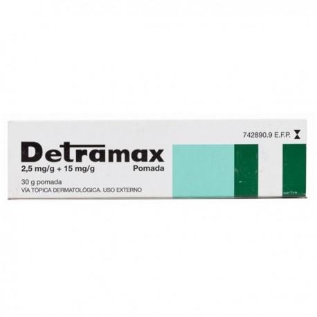 DETRAMAX 2,5 mg/g + 15 mg/g POMADA 1 TUBO 30 g