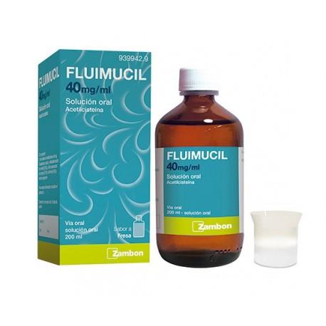 FLUIMUCIL 40 mg/ml SOLUCION ORAL 1 FRASCO 200 ml