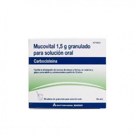MUCOVITAL 1,5 g 20 SOBRES GRANULADO PARA SOLUCION ORAL