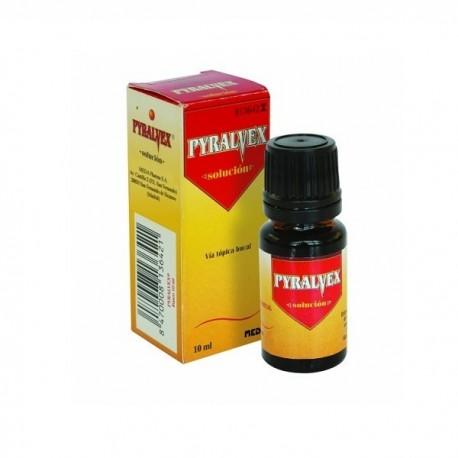 PYRALVEX 10 mg/ml + 50 mg/ml SOLUCION BUCAL 1 FRASCO 10 ml