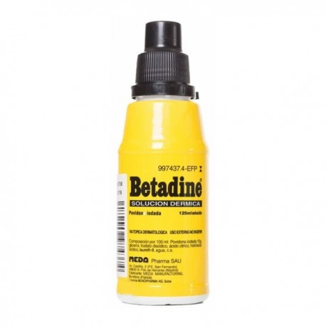 BETADINE 100 mg/ml SOLUCION CUTANEA 1 FRASCO 125 ml