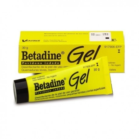 BETADINE 100 mg/g GEL CUTANEO 1 TUBO 30 g