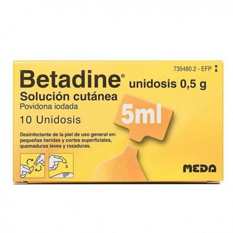 BETADINE UNIDOSIS 100 mg/ml SOLUCION CUTANEA 10 UNIDOSIS 5 ml