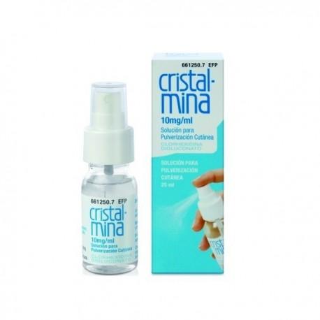 CRISTALMINA 10 mg/ml SOLUCION PARA PULVERIZACION CUTANEA 1 FRASCO 25 ml