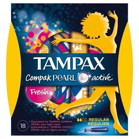 TAMPAX COMPAK PEARL TAMPON 100%ALGODON 16 UNIDADES REGULAR