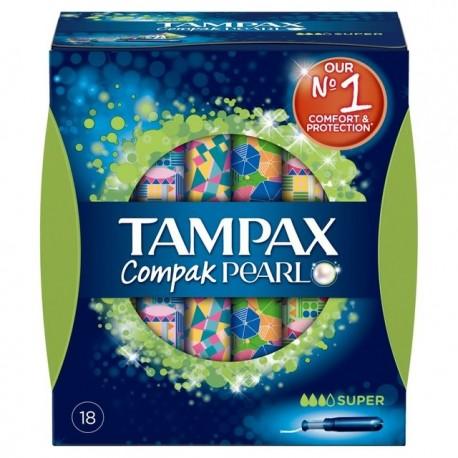 TAMPAX COMPAK PEARL TAMPON 100%ALGODON 16 UNIDADES SUPER