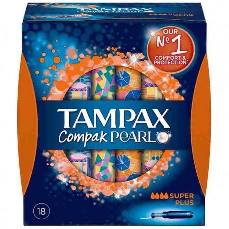 TAMPAX COMPAK PEARL TAMPON 100%ALGODON SUPER PLUS 16 U