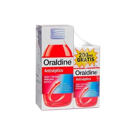 ORALDINE ANTISEPTICO 1 ENVASE 400 ml + 1 ENVASE 200 ml PACK
