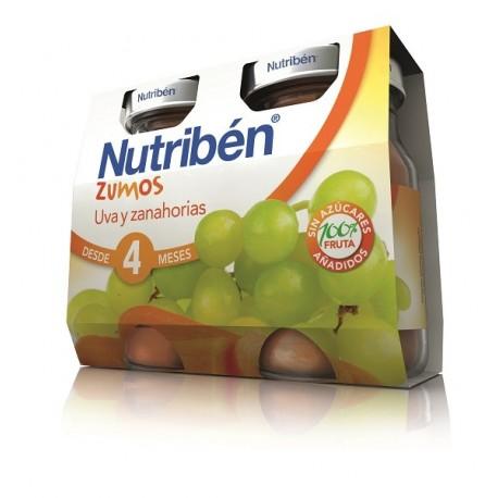 NUTRIBEN ZUMO UVA Y ZANAHORIAS 2 ENVASES 130 ml BIPACK