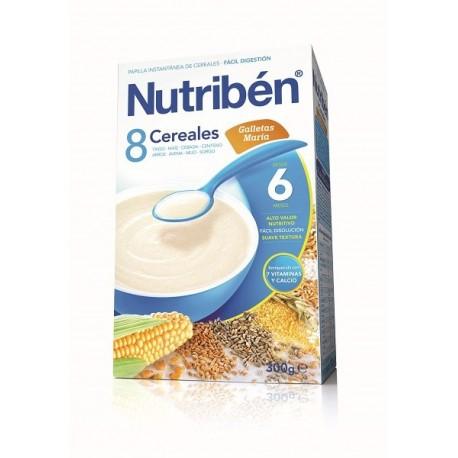 NUTRIBEN PAPILLA 8 CEREALES GALLETAS MARIA 1 ENVASE 600 g