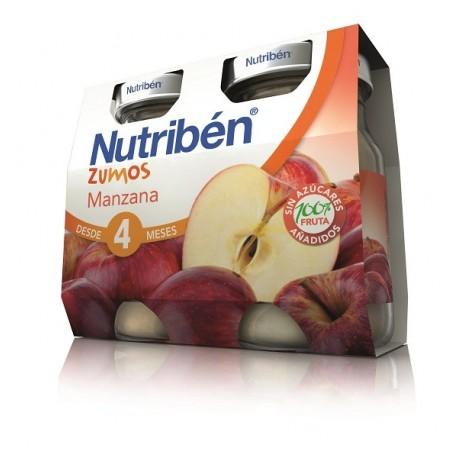 NUTRIBEN ZUMO MANZANA 2 ENVASES 130 ml BIPACK