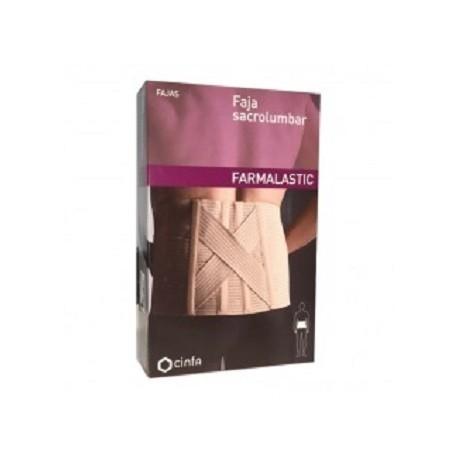 FAJA SACROLUMBAR FARMALASTIC CONTORNO CINTURA 75-90 CM TALLA 1