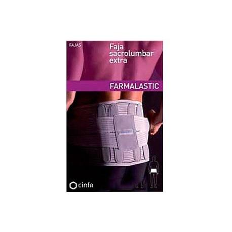 FAJA SACROLUMBAR FARMALASTIC EXTRA GRIS CONTORNO 88 CM T-1