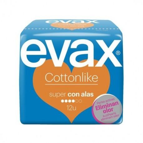 COMPRESAS EVAX COTTONLIKE ALAS SUPER 12U