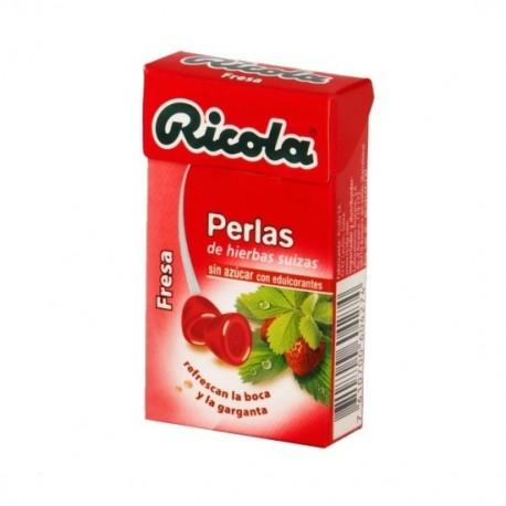 RICOLA PERLAS SIN AZUCAR 1 ENVASES 25 g SABOR FRESA
