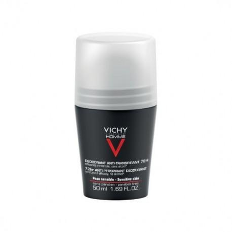 VICHY HOMME DESODORANTE PIEL SENSIBLE 1 ENVASE 50 ml