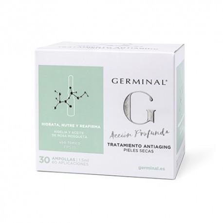 GERMINAL ACCION PROFUNDA TRATAMIENTO ANTIAGING PIELES SECAS 30 AMPOLLAS 1,5 ml