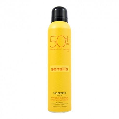 SENSILIS SUN SECRET SPRAY CORPORAL TRANSPARENTE PROTECTOR SOLAR SPF 50+ 1 ENVASE 200 ml