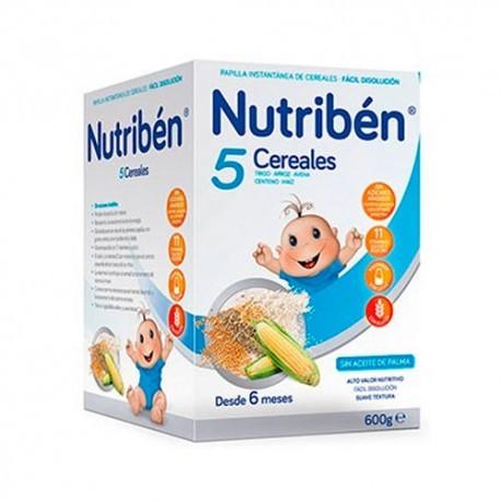 NUTRIBEN 5 CEREALES 1 ENVASE 600 g