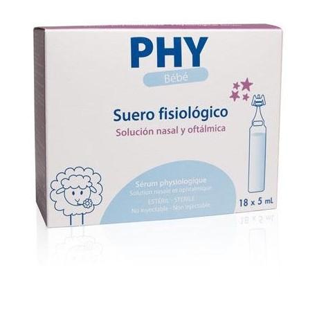 SUERO FISIOLOGICO PHY BEBE MONODOSIS 18 UNIDADES 5 ml