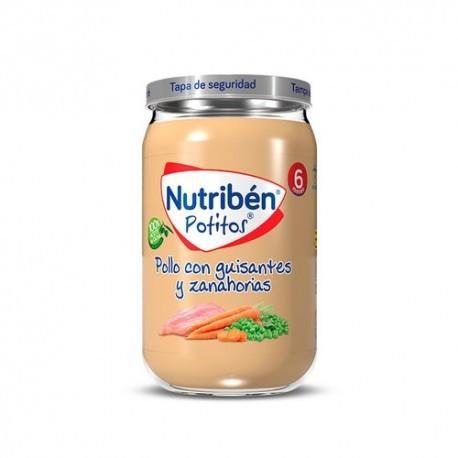 NUTRIBEN POLLO CON GUISANTES Y ZANAHORIAS 1 POTITO 235 g