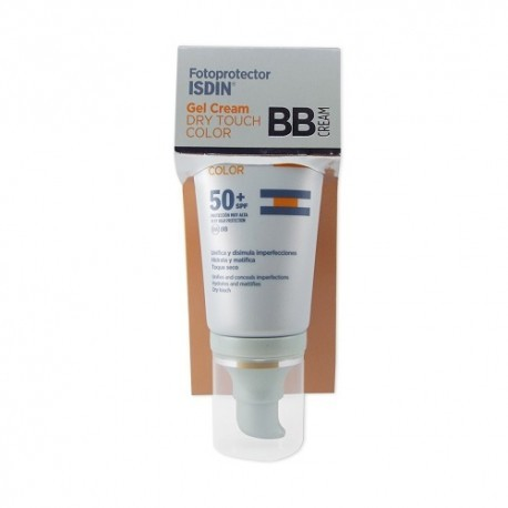 FOTOPROTECTOR ISDIN SPF 50+ DRY TOUCH BB CREAM GEL CREMA 1 ENVASE 50 ml COLOR