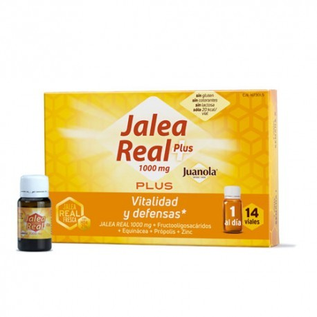 JUANOLA JALEA REAL PLUS 14 AMPOLLAS BEBIBLES